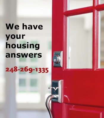 We have your housing answers: 248-269-1335